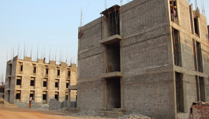 construction of three-story student hostels