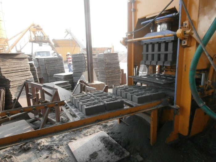 brick-making on site